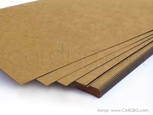 Крафтов картон на листа 70х100 см 205 гр.