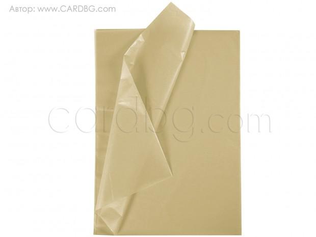 Тишу хартия бежов, крафт, 50х75 см, 20 листа в пакет