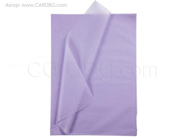 Тишу хартия бледолилава, 50х75 см, 20 листа в пакет