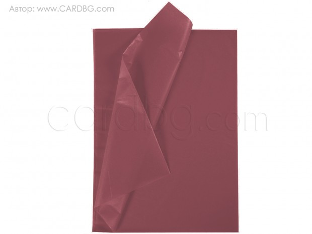 Тишу хартия цвят бордо, 50х75 см, 20 листа в пакет