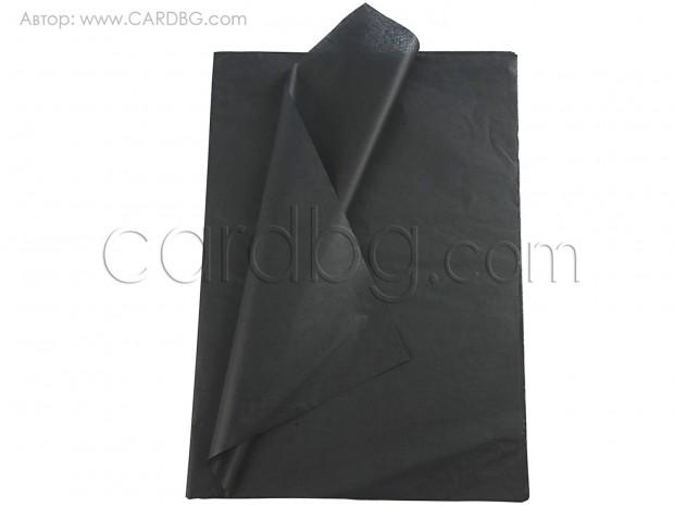 Тишу хартия черно, 50х76 см, 20 листа в пакет