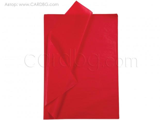 Тишу хартия червено, 50х76 см, 20 листа в пакет