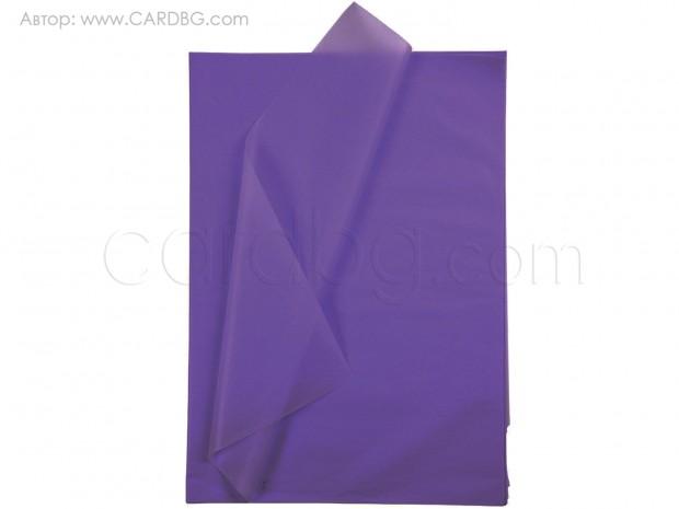Тишу хартия в цвят лилав, 50х75 см, 20 листа в пакет