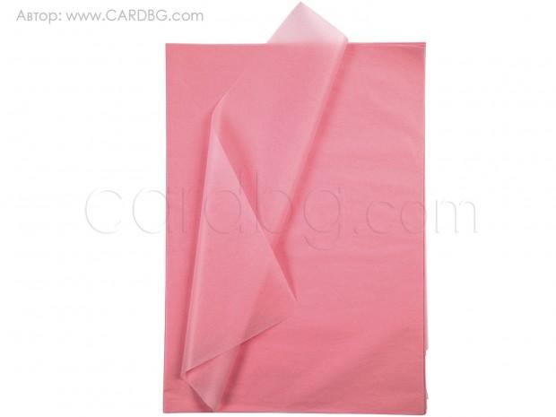 Тишу хартия розова, 50х75 см, 20 листа в пакет