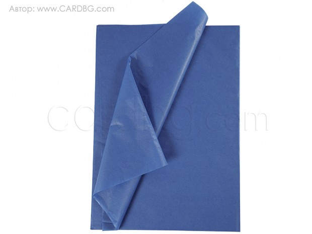Тишу хартия синя, 50х75 см, 20 листа в пакет