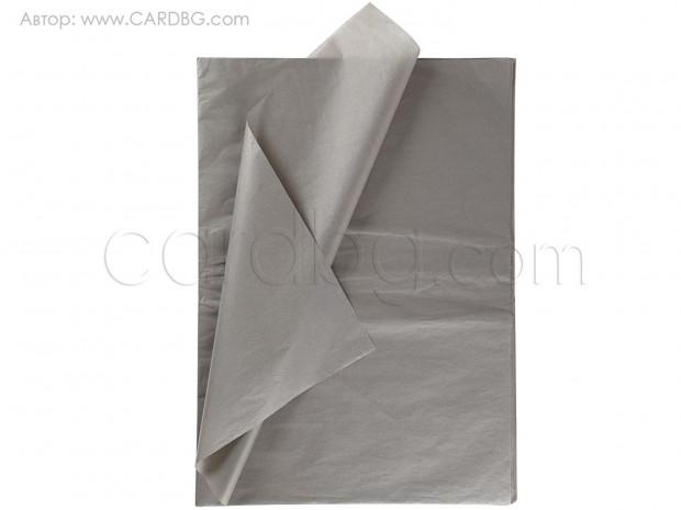Тишу хартия сиво, 50х76 см, 20 листа в пакет