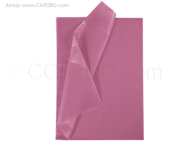 Тишу хартия в цвят на слива, 50х75 см, 20 листа в пакет
