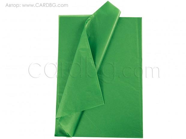 Тишу хартия зелен, 50х76 см, 20 листа в пакет