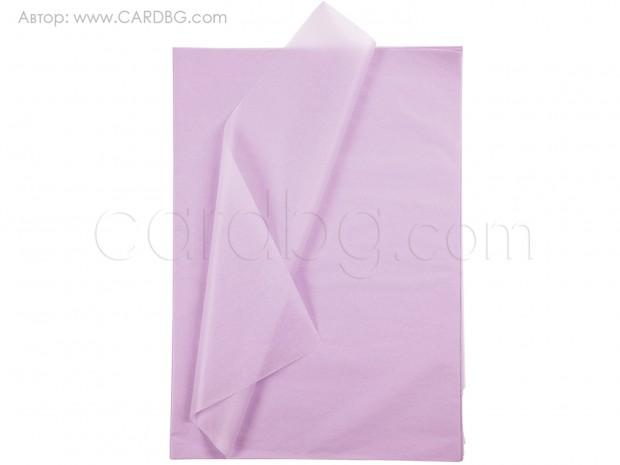Тишу хартия цвят светловиолетов, 50х75 см, 20 листа в пакет