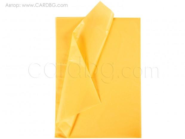 Хартия тишу тъмножълта, 50х76 см, 20 листа в пакет