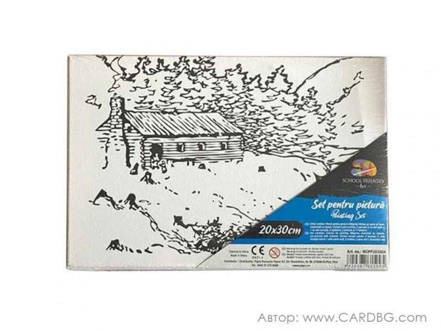 Картина за рисуване с пейзаж размер 20х30 см