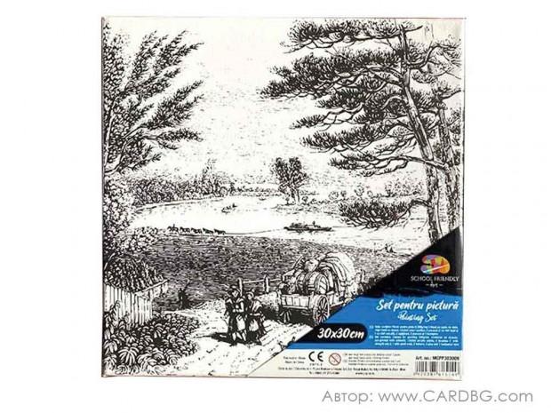 Картина за рисуване с пейзаж размер 30х30 см