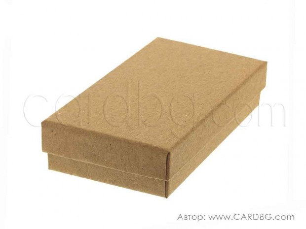 Картонена кутия крафт картон за декорация, подаръци 14 х 10,5 х 3,5 см