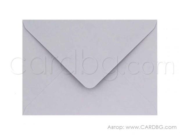 Плик за картички, покани, писма, ваучери, награди, цвят светло лилав, размер 13х18 см