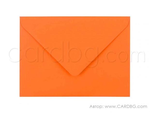 Цветен пощенски плик за картички, писма, покани, цвят оранжев, размер 13х18 см