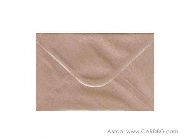 Пощенски плик перлен, бежав, с лепило, С6