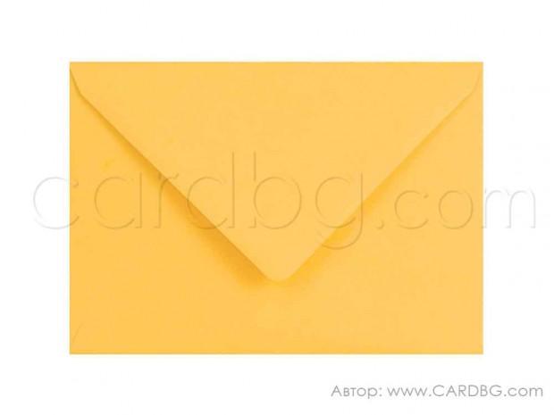 Пощенски плик за картички, покани, писма, ваучери, цвят жълт, размер 13х18 см