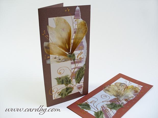 Ръчна изработка със сухи цветя код нм 101