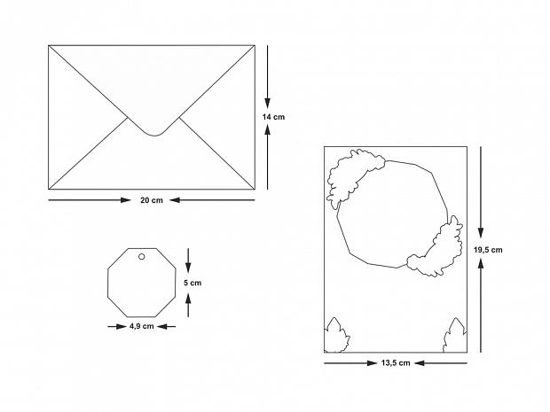 Покана с геометрични златни акценти № 10531