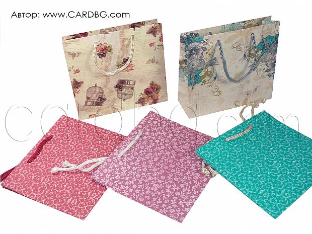 10 броя хартиени торбички малък квадрат размер 17/19 см.