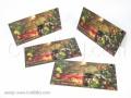 Двойни картички за коледа и нова година с панделка