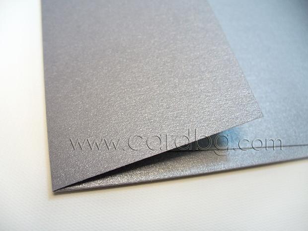 Перлен сребърен плик с капак без лепило