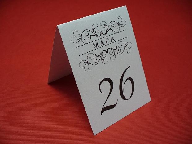 Картички с номер на масата
