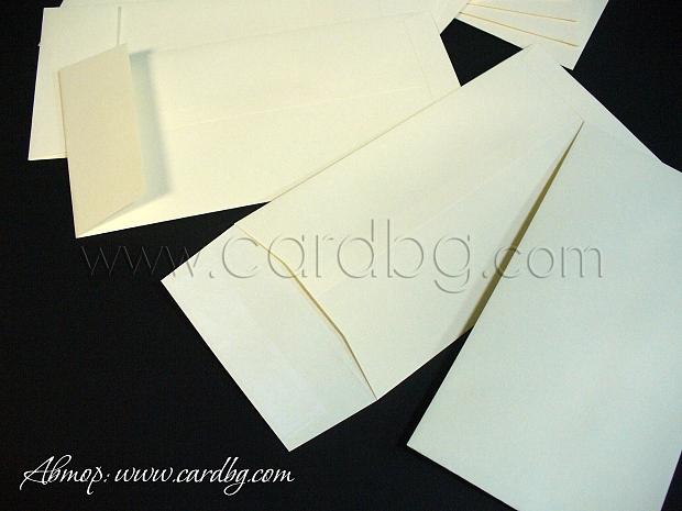 Пощенски плик цвят екрю