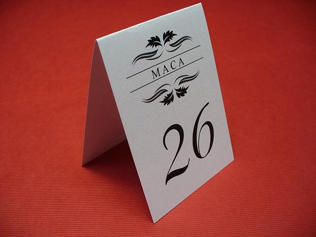 Тейбъл картички номер на маса