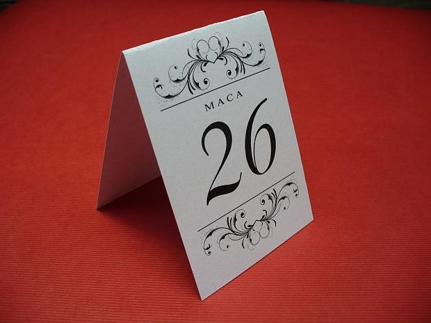 Тейбъл картички номер за маса