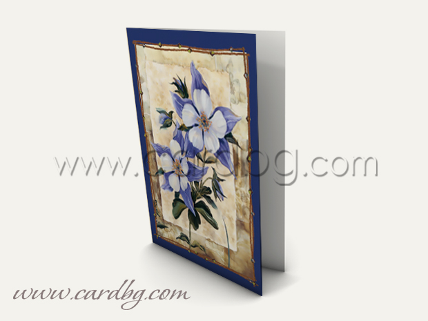 Мини картички с цветя № м 260