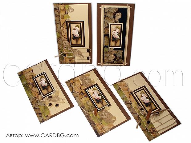 Ръчно изработени еко картички от естествени материали