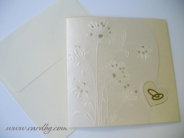 Елегантна сватбена картичка № 31300