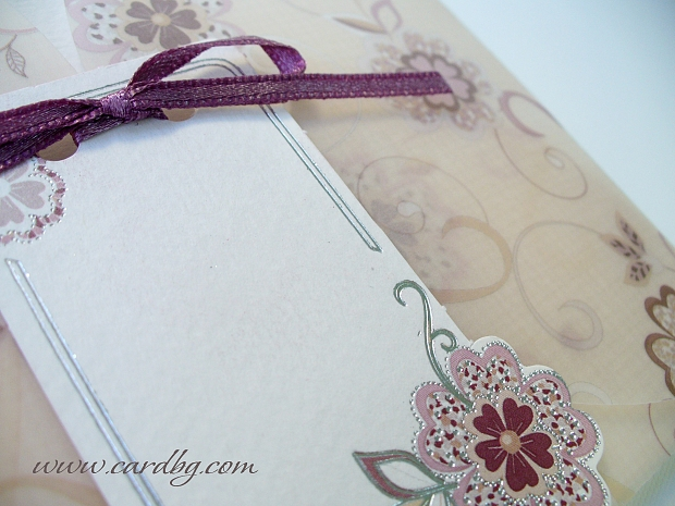 Сватбени покани в цвят пепел от рози № 31308
