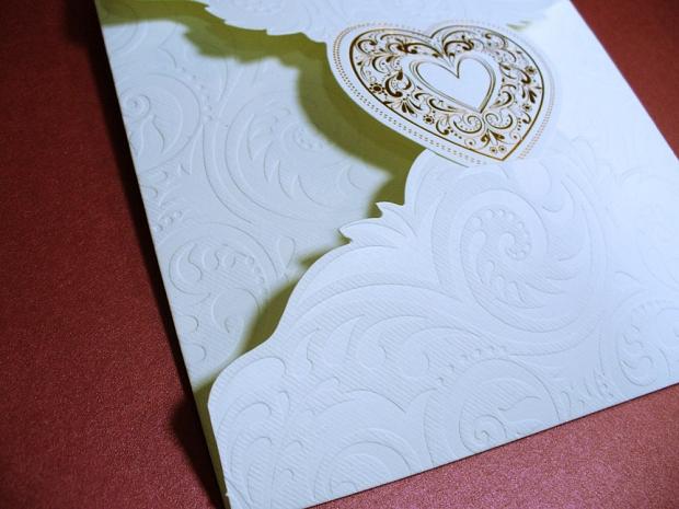 Сватбена покана цвят екрю № 31310