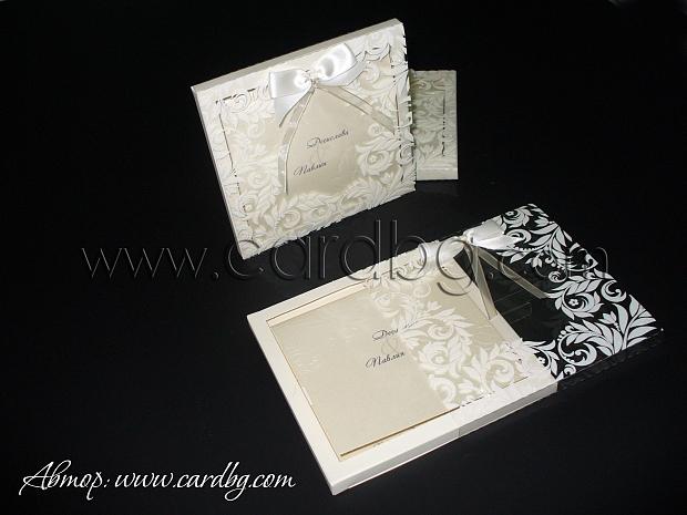 Сватбена покана в кутия № 32403