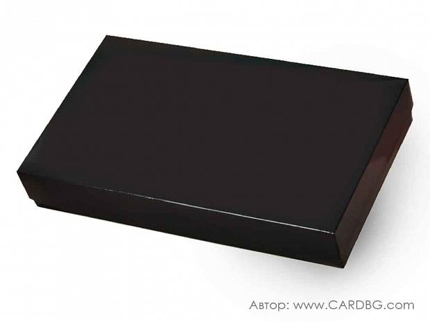 Луксозна правоъгълна кутия с лаково покритие черна 37х23х7 см