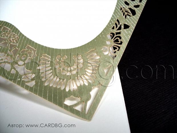 Луксозна единична картичка лазерно изрязана № 39341