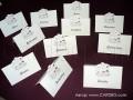 Картички с номер на маса, имена на гости № 31324