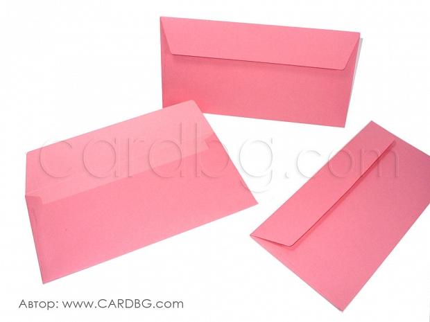 Пощенски плик dl розов без лепило