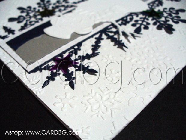 Ръчно изработени картички квадратни с релефни елементи