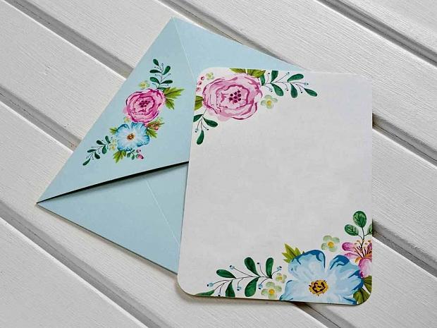 Единична картичка с цветя № 10456