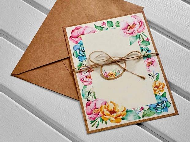 Единична картичка със свежи цветя № 10520
