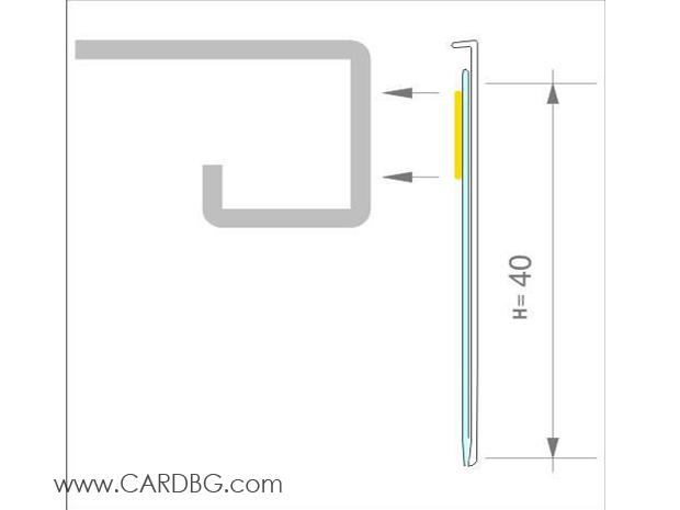 Плексигласови ценови лайсни за стелажи и рафтове, 4 см височина