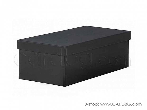 Черна разглобяема каширана кутия р-р 26х13х10 см. код KM 01