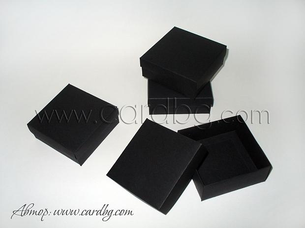 Черни кутии 10x10x4см. - 25 броя