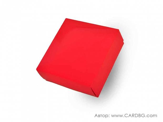 Луксозна картонена кутия с лак и отделен капак 22х22х8 см