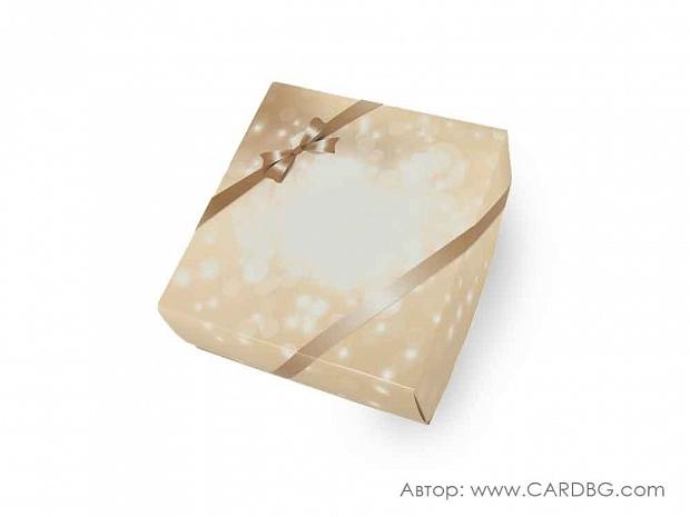 Подаръчна кутия с лаково покритие 22х22х8 см