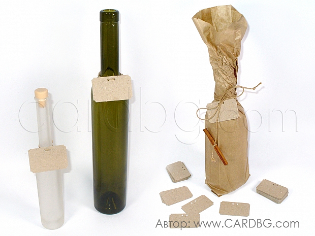 Етикети за ръчно надписване на цена от рециклиран картон 25 броя