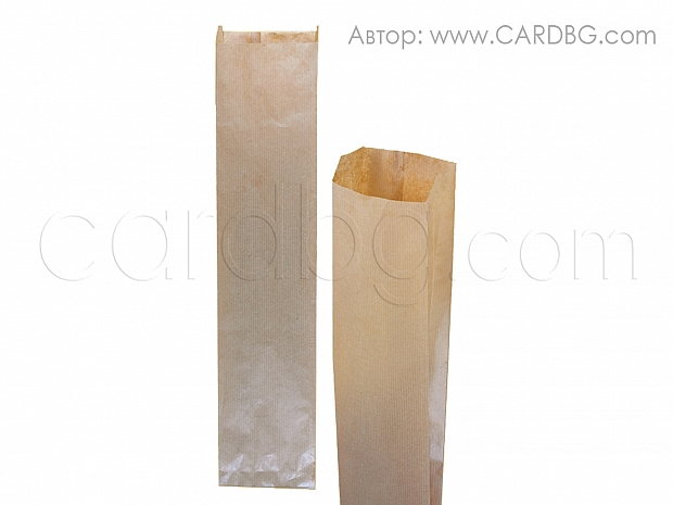 Хартиен плик за бутилка, хляб р-р 10х45 см 50 броя в пакет код 31-10